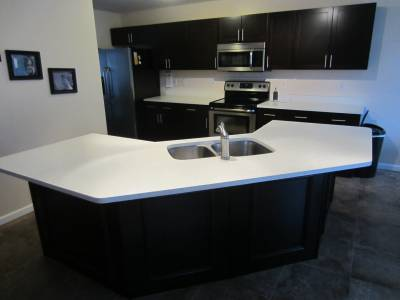 Check out this recent kitchen cabinet refacing project in St.Louis