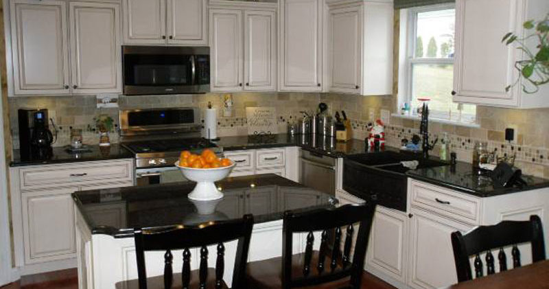 white cabinet refacing st. louis