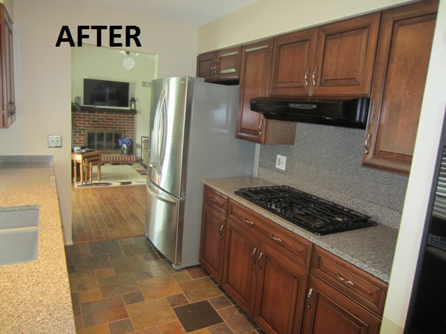 Kitchen Cabinet Refacing Project in Oakville, MO