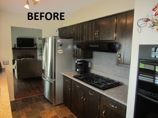 Carey Before After Cabinet Refacing Kitchen