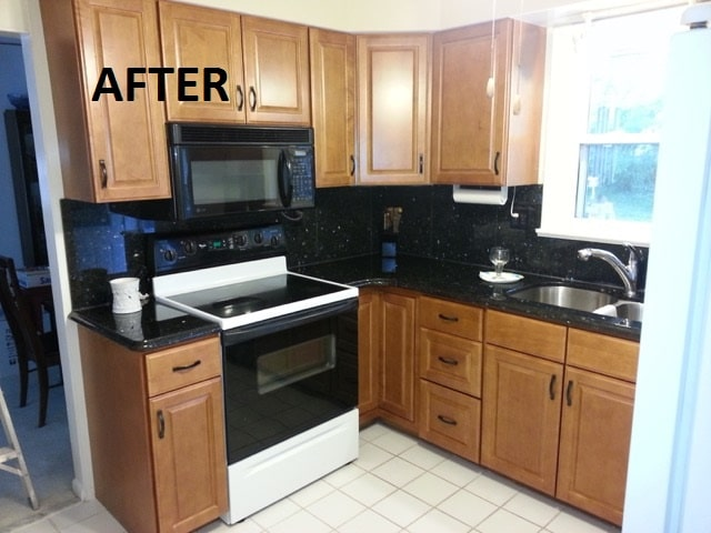 Kitchen cabinet refacing in a home in St.Louis,MO