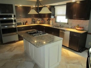 Beautifully refaced kitchen cabinets