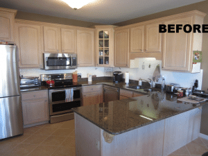 Before pic of kitchen in Wentzville, MO