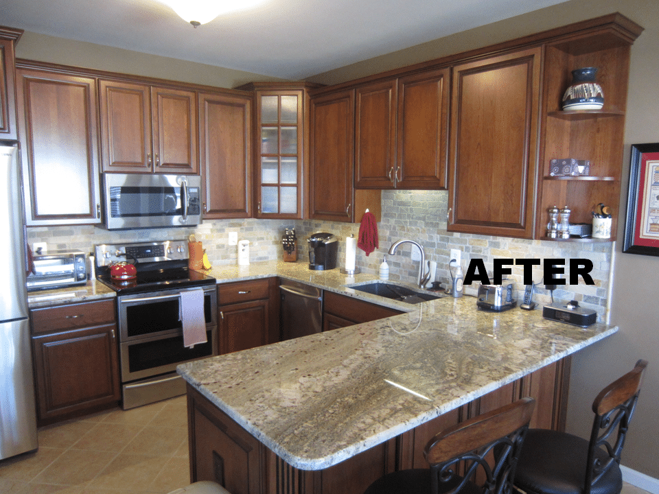 Before And After Photos Of A Kitchen Remodel in Wentzville