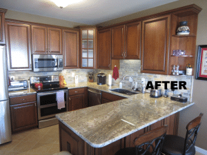 After photo of the cabinet refacing project in Wentzville