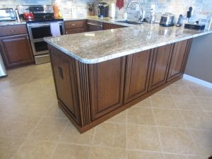 After picture of kitchen peninsula in Wentzville, MO
