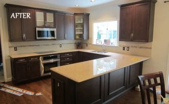 A Recent Kitchen Cabinet Refacing Project In St.Louis