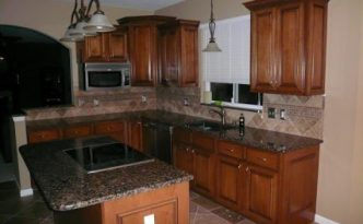 cabinet coverup oak wood refacing