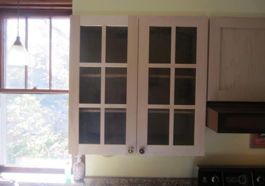 white kitchen cabinet glass doors
