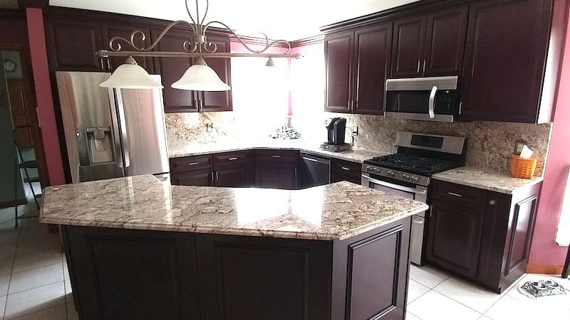 the kitchen refacing process final pic